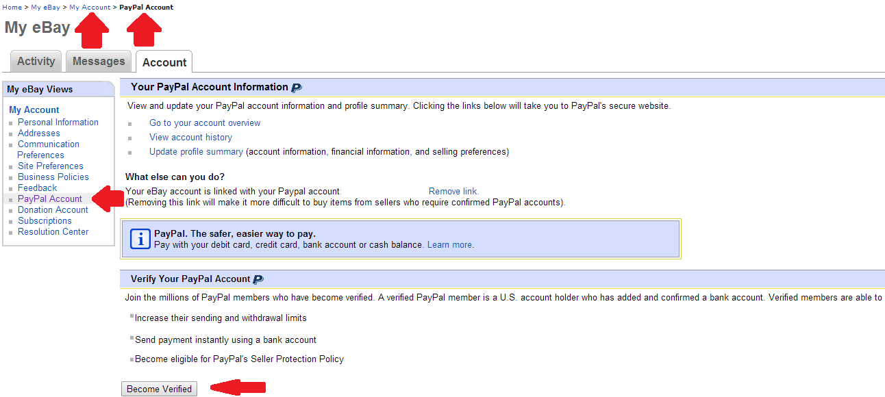 Paypal Account | How To Sell On eBay | Guides
