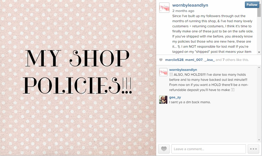 Feedback And Shop Policies | How to Create a Free Online Shop with