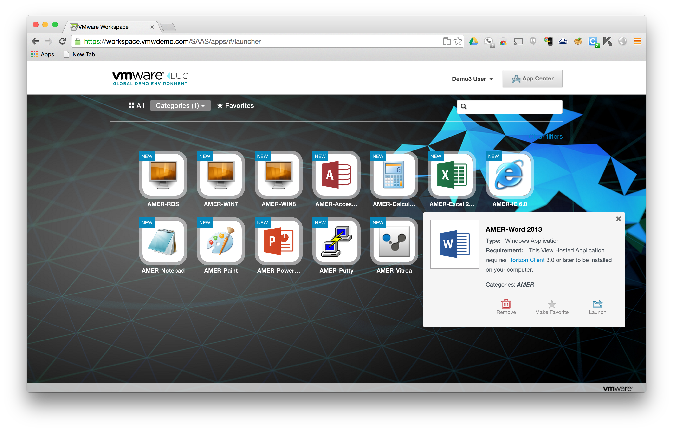 Launch RDS Apps From Workspace Portal | VMware End User Computing