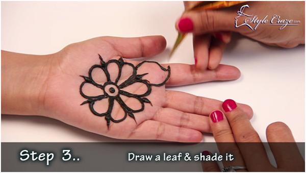 Arabic Mehndi Step By Step : Step 3 how to draw arabic mehandi designs guides