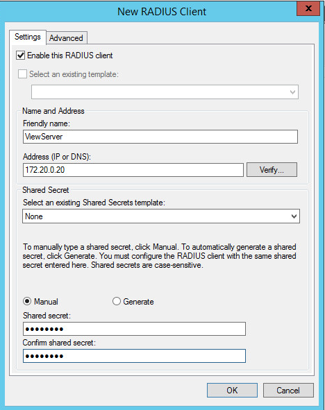 Configure A Microsoft NPS Server As A RADIUS Authentication