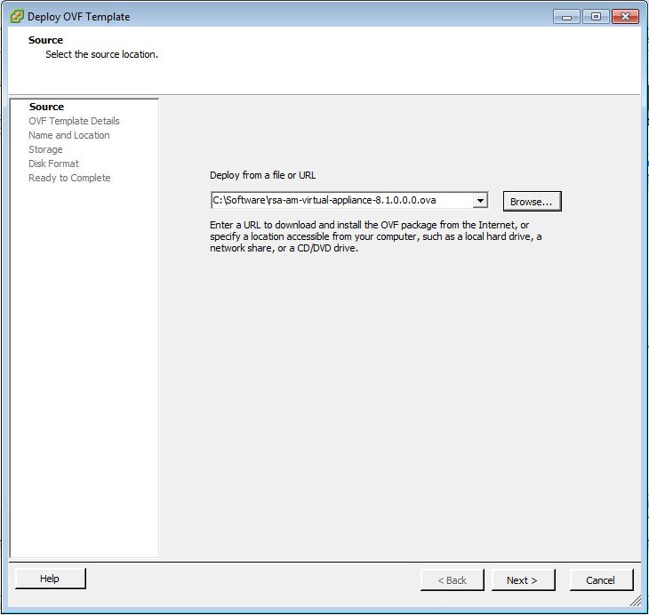 Deploy The RSA Authentication Manager Appliance   VMware