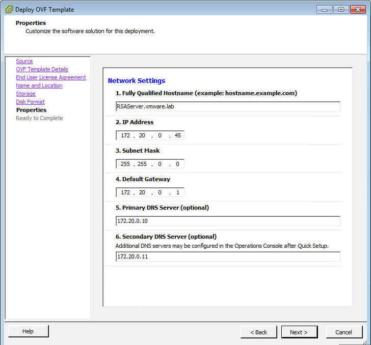 Deploy The RSA Authentication Manager Appliance   VMware Horizon 6