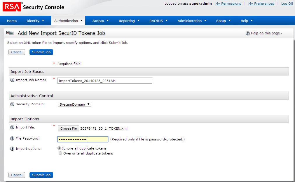 Configure Token Distribution   VMware Horizon 6 SmartGuide