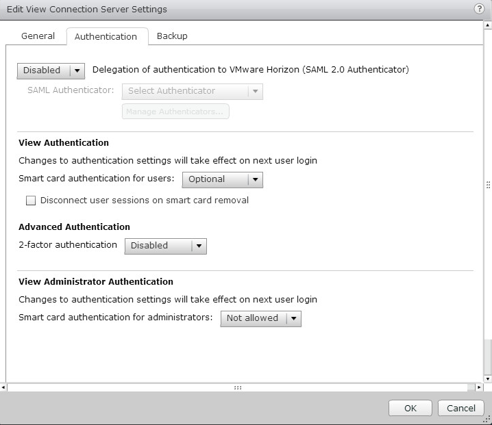 Configure View Connection Server To Use RSA Authentication Server As