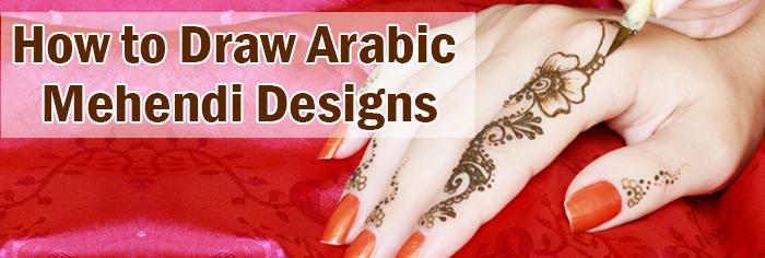 Simple Arabic Mehendi Designs How To Draw Arabic Mehandi Designs