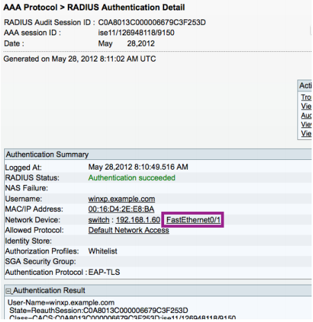 Procedure 5 - Check The NAD Interface Status Or The ISE