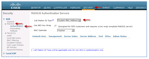 Procedure 4 - Configure The WLC To Use Cisco ISE As A RADIUS Server