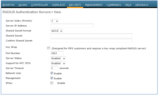 Procedure 4 - Configure The WLC To Use Cisco ISE As A RADIUS