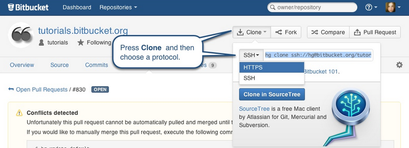 Configure Your Repository To Use The SSH Protocol | Bitbucket 101